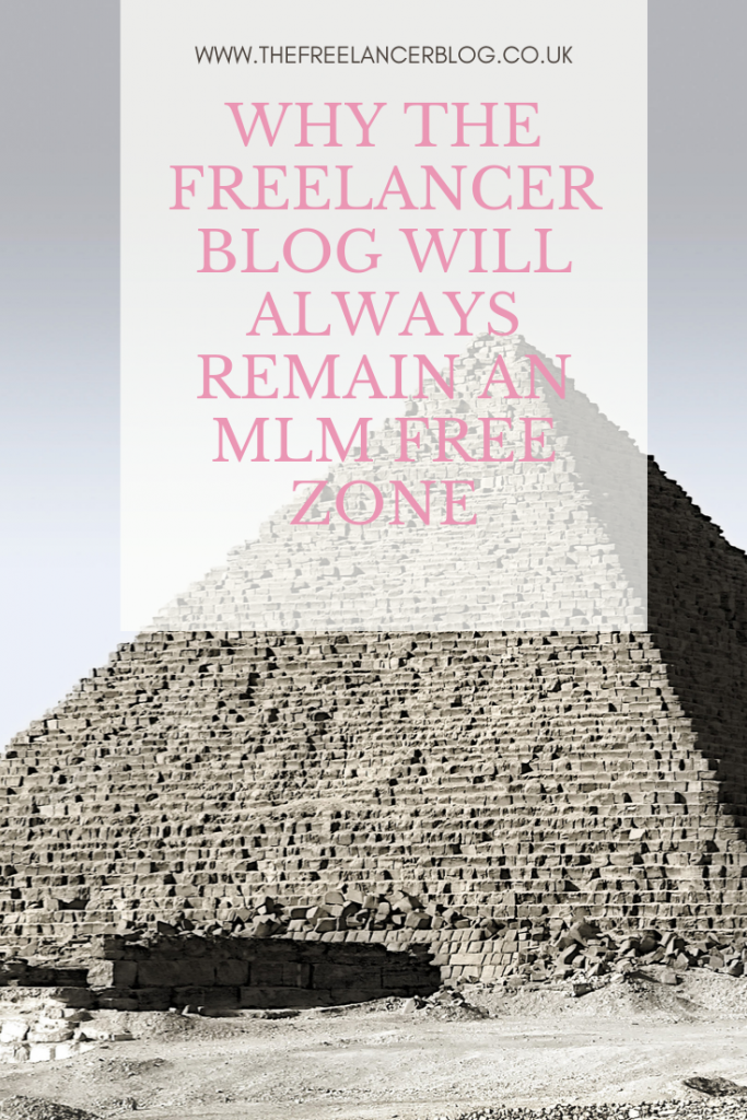 Why The Freelancer Blog Will Always Remain an MLM free zone