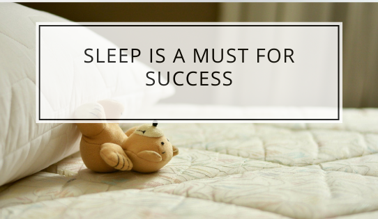 Sleep Is A Must For Success